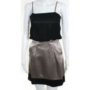 Shipley & Halmos Black Sheer/Champagne Dress sz 2